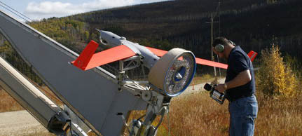 drone used to observe wildfires